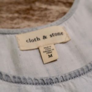 cloth & stone Tops - Anthropologie Cloth and Stone Chambray Tank Top